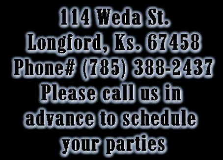 Give us a call for your parties!